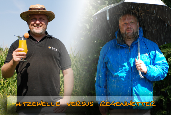 Hitzewelle versus Regenwetter